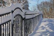 Ogrodzenia, zima